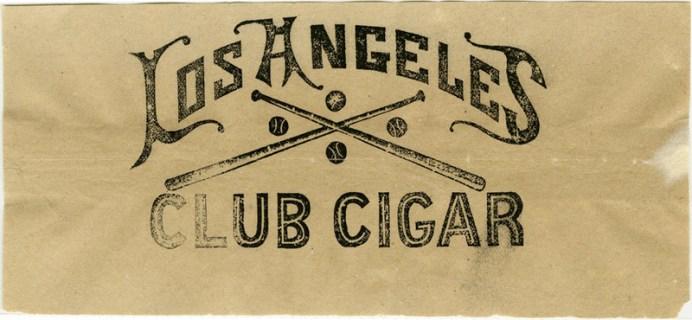 los angeles club cigar logo 1887
