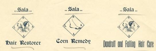 sala for corns dandruff and hair loss 1897