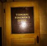 Foreman's office door.