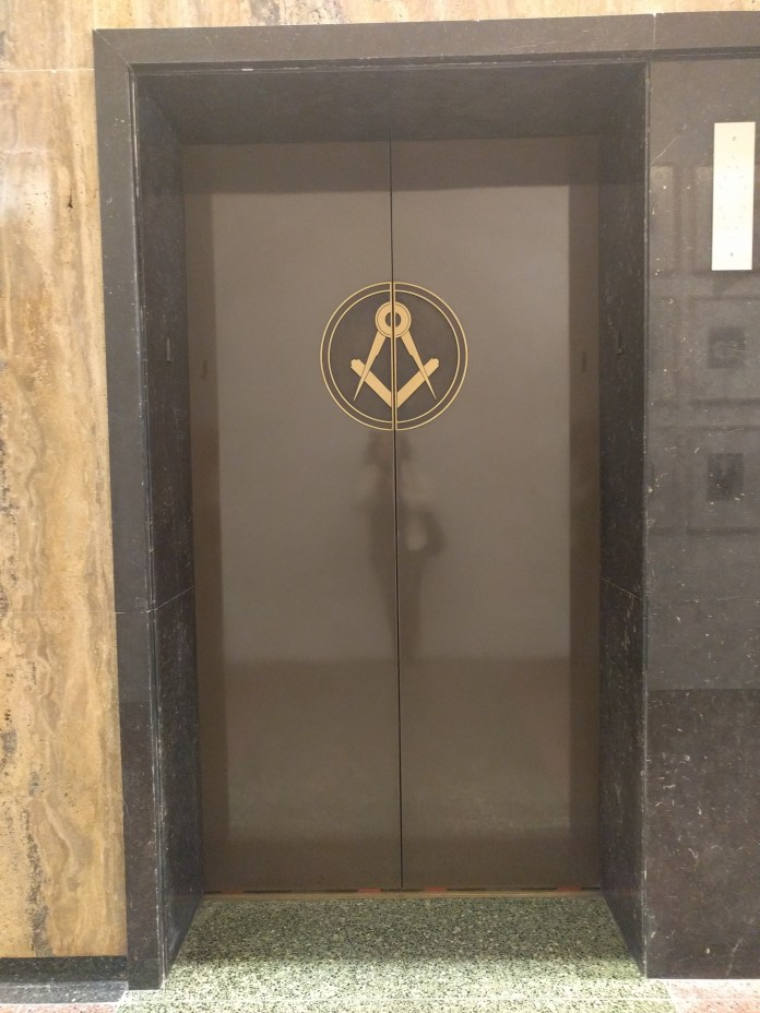 scottish rite elevator door