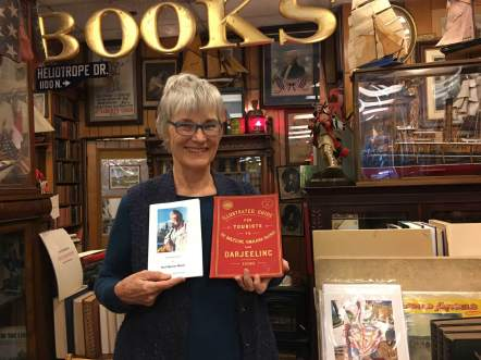 Pam Meyer, Kurt Meyer's widow, returning Leonard's favorite book on the Darjeeling Railyway