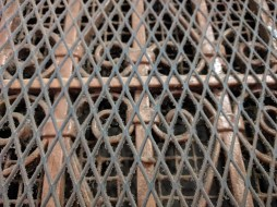 Old elevator cage doors