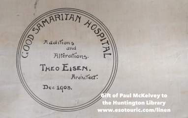 Theo Eisen's signature on the Good Samaritan Hospital update plans