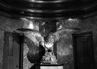 Eagle in the Globe Lobby circa 1965