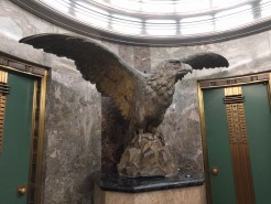 Eagle from 2nd & 3rd Times Building in lobby of 4th LA Times Building