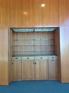 Built in cabinet Norman Chandler Pavilion, Los Angeles Times Kaufmann Building