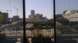 View of Disney Hall from Times-Mirror HQ