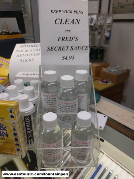 You should clean your pens religiously, but if you lapse, Fred's Secret Sauce will get the gunk out.