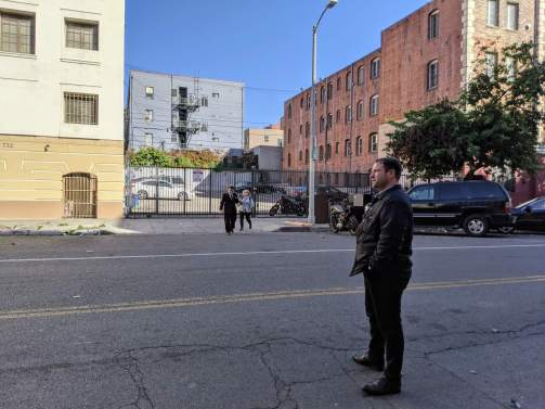 Spencer across the street from 738 S Normandie Ave