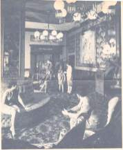 Alexandria Hotel Lobby, just in front of the Palm Court, circa 1970