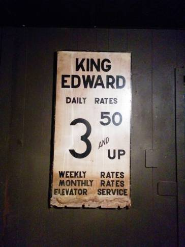 King Eddy Saloon. Souvenirs from another age.