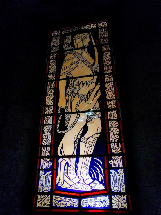 Detail on Judson Glass Studios' work in the 1929 Pacific Stock Exchange.