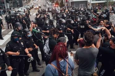Downtown Los Angeles Friday May 29 --- Photo Kemal/StreetwiseLA