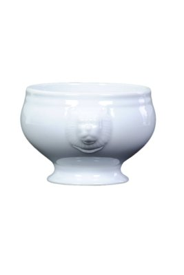 Over & Back Lions Head Porcelain Bowl