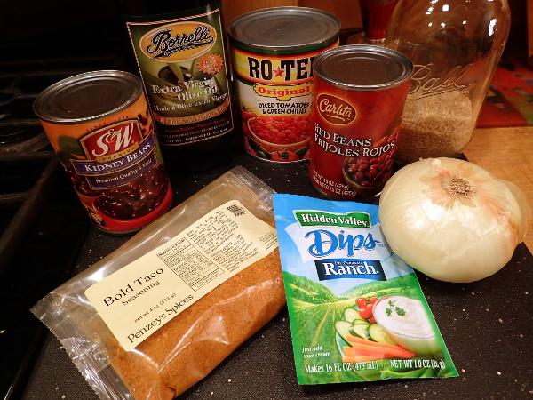 Vegetarian Taco Soup Ingredients