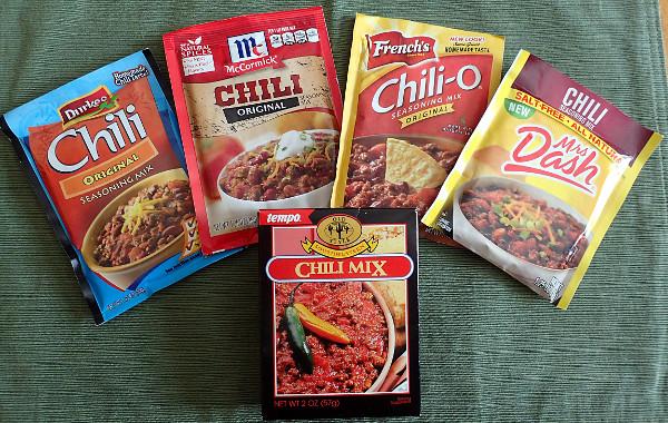 Chili Seasoning Packet Mixes Compared