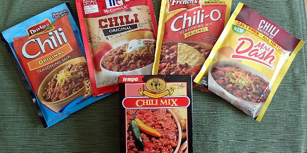 Chili Seasoning Packet Mixes Compared