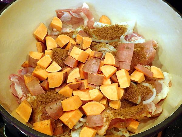 Add sweet potato