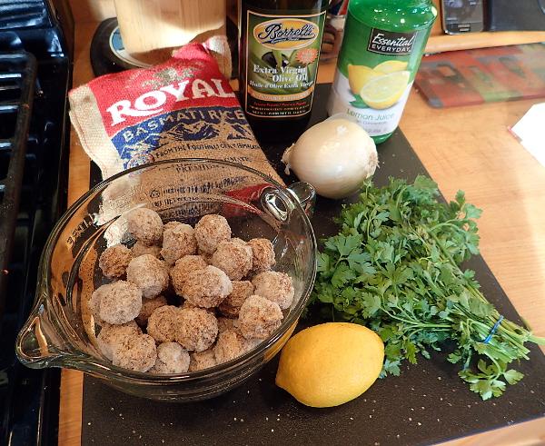 Meatball Lemon Rice Soup Ingredients