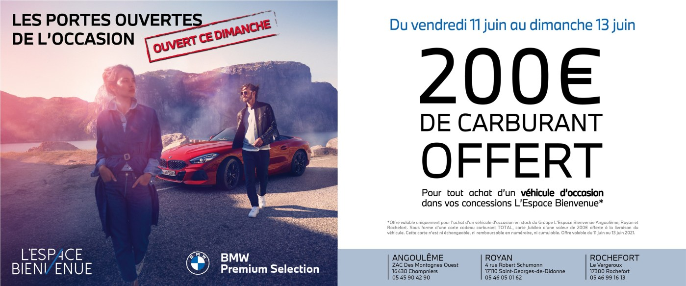 200€ de carburant offert pour l'achat d'un véhicule d'occasion