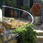 Bois fossile, cristal de roche, citrine, améthyste - Balazuc