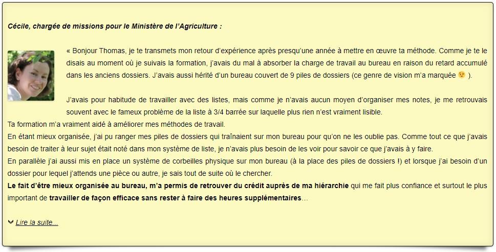 Témoignage Cécile Ministère de l'Agriculture