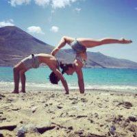 Yoga, vue mer avec 4 L...