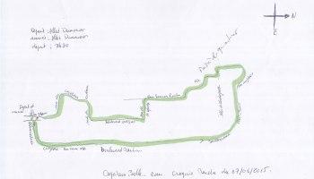 Circuit de la marche du 7 juin 2015 en soutien aux malades drépanocytaires