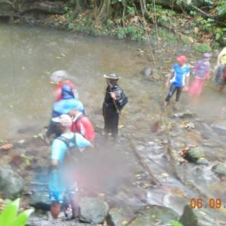 Arrivée du groupe au bassin
