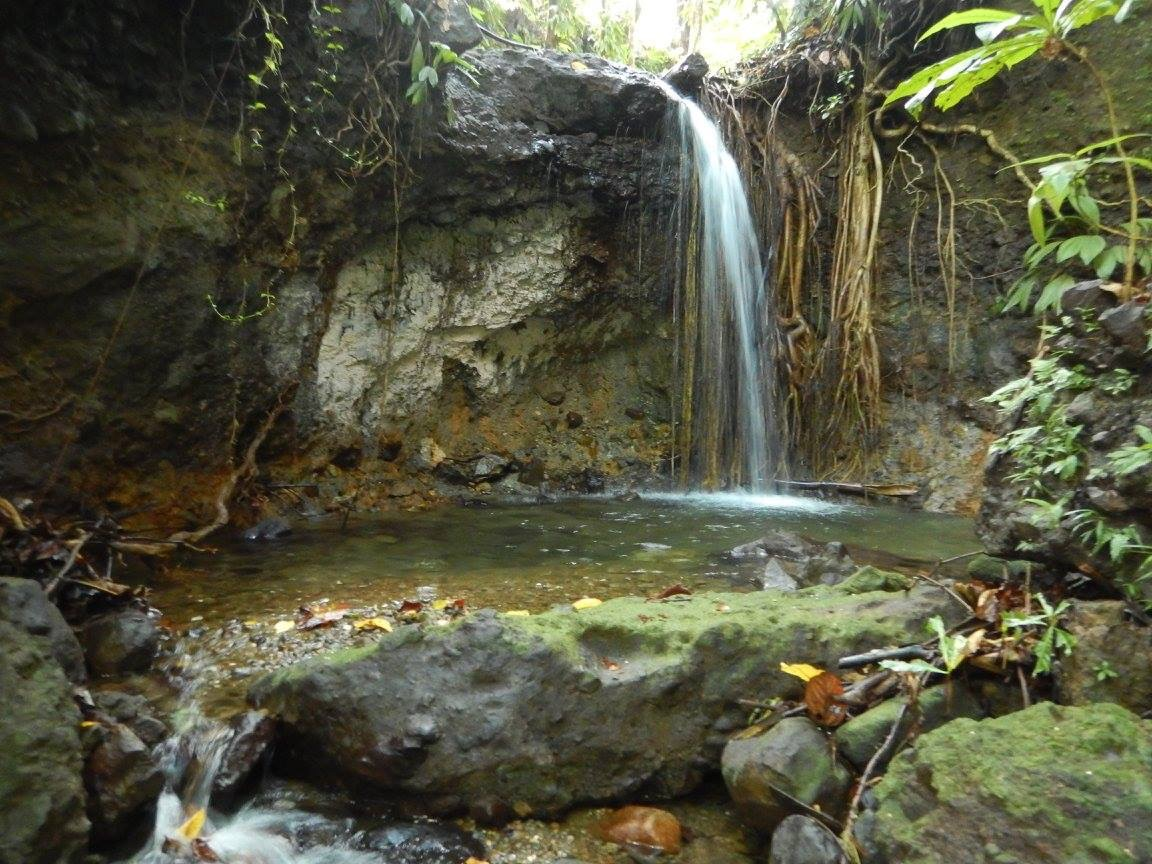 L'une des cascades du parcours de la randonnée