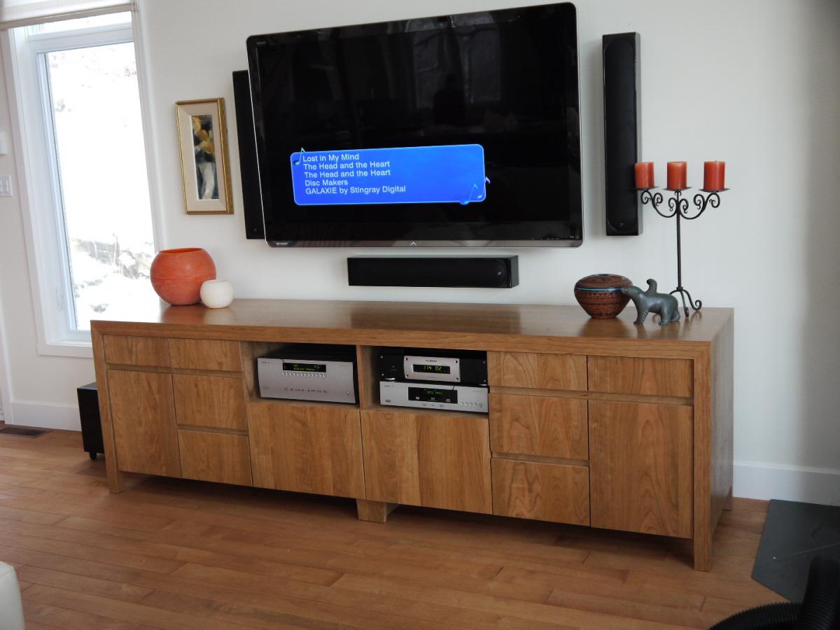 meuble tele cerisier cherry tv cabinet