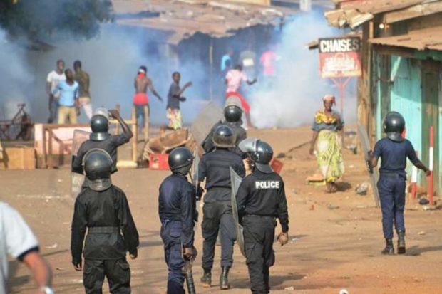 Urgent : la marche du FNDC dispersée à Gbessia Kondébondji