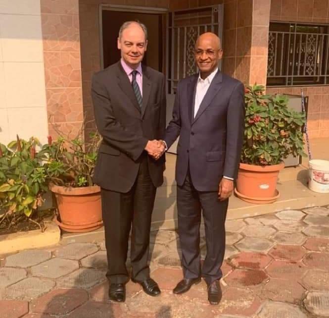 Crise politique: Cellou Diallo a rencontré l'ambassadeur de l'Angleterre
