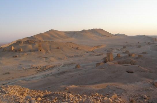 Valle de las tumbas en Palmira (Siria)