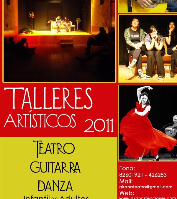 Talleres Artísticos Iquique 2011 – Teatro – Guitarra – Danza