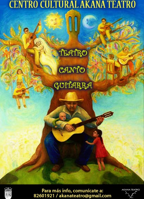 Se entregarán Becas para Talleres de Teatro – Guitarra – Canto