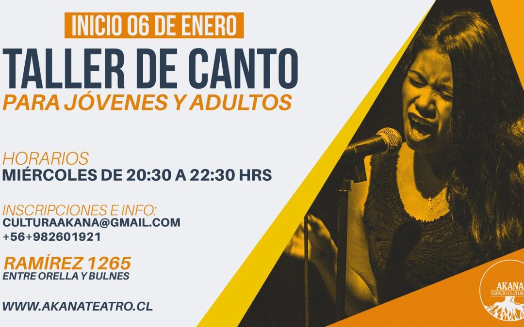 Taller de Canto (Jóvenes y Adultos) – 2016