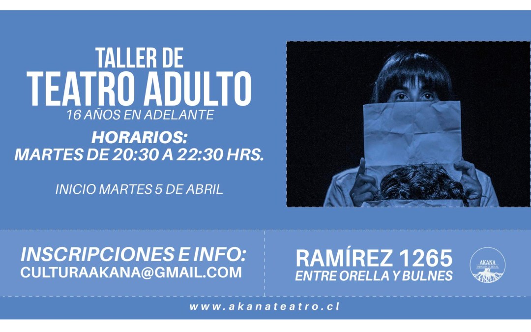 Taller de Teatro adulto – 2016