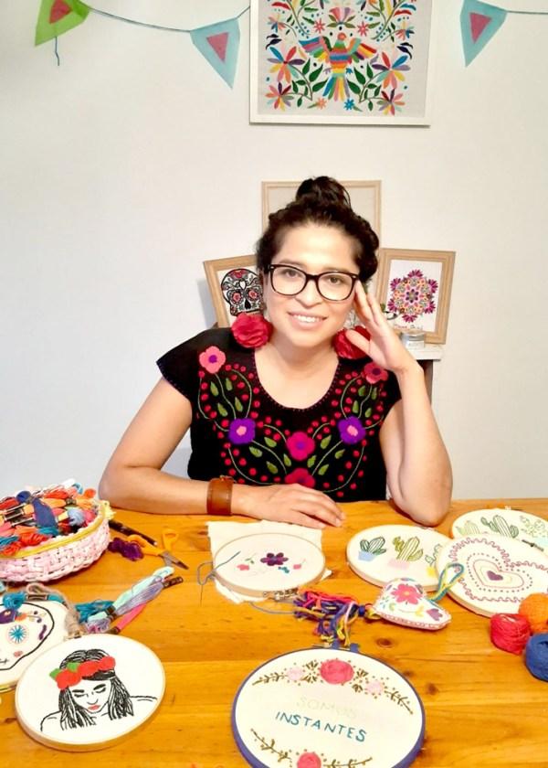 Tallerista Leticia Rodríguez