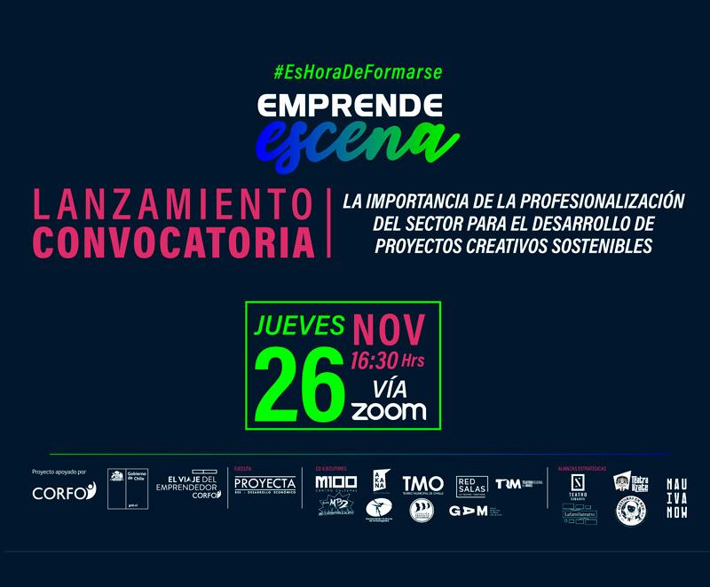 """Lanzamiento online de la plataforma """"Emprende Escena"""""""