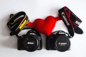 Cámaras tipo DSLR de las marcas Canon y Nikon (fuente: dzoom)