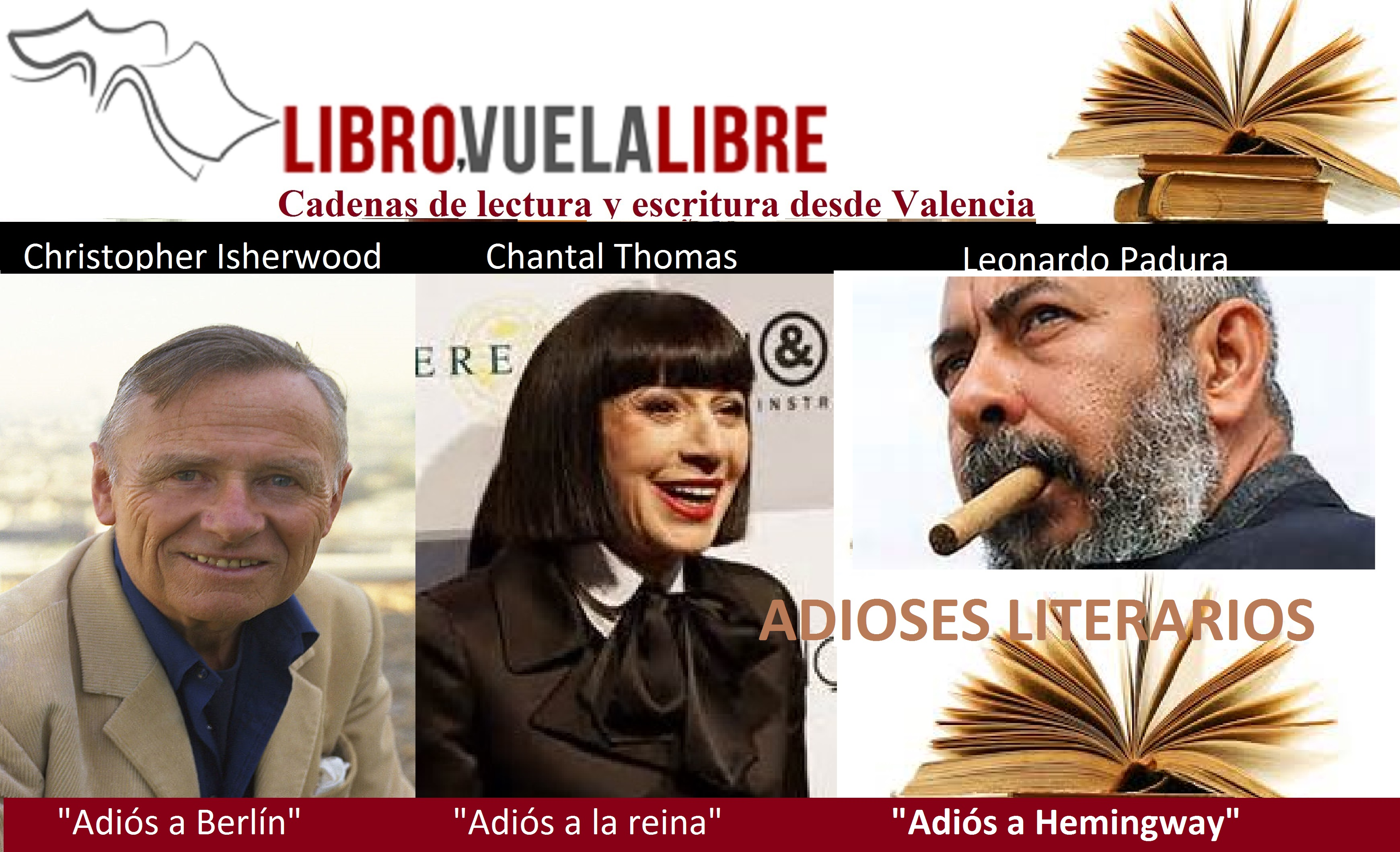 """ADIOSES LITERARIOS. Taller de escritura en Valencia y cadenas de lectura de """"Libro, vuela libre"""""""