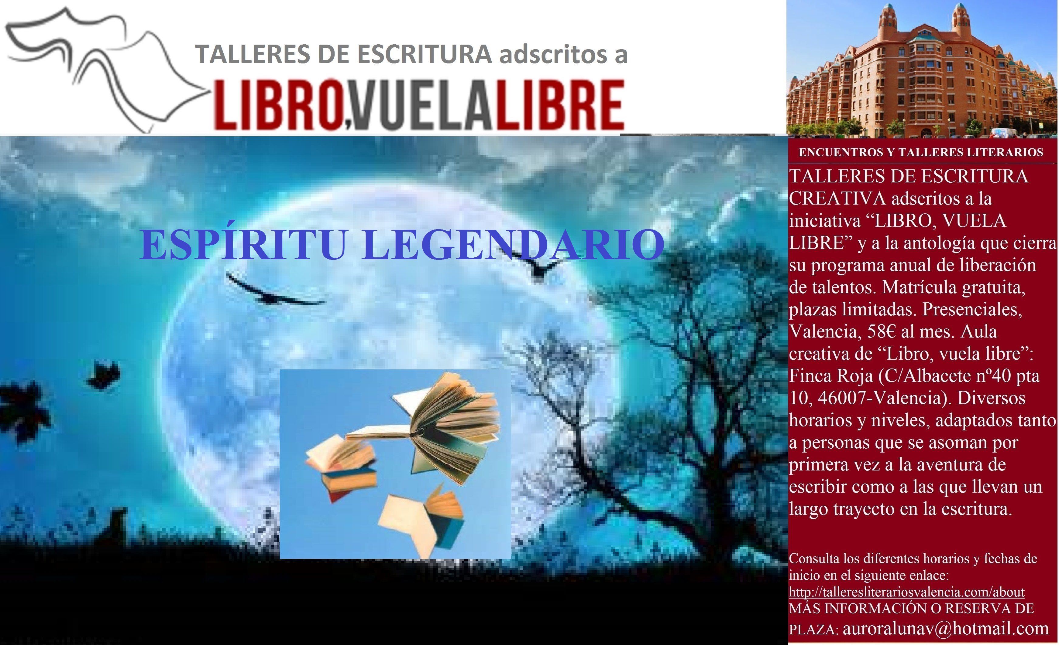 ESPÍRITU LEGENDARIO. Leyendas, taller de escritura en curso. Clave L-37 (I)