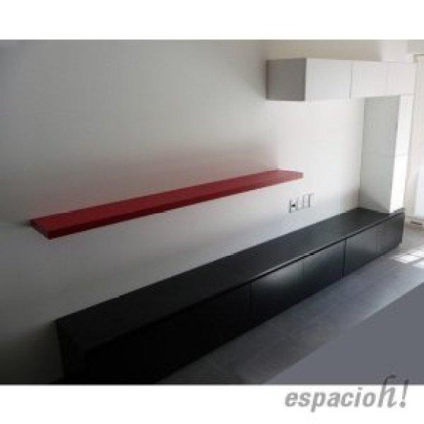 muebles con cajones, puertas batientes, proyectantes y estante volado