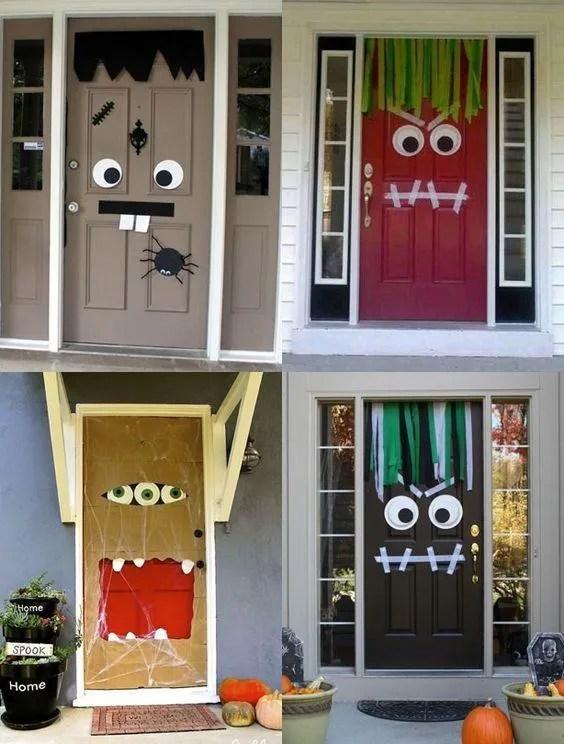 Image result for deco cara puerta halloween