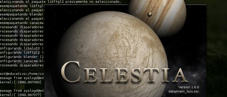 Celestia, el sistema solar en 3D