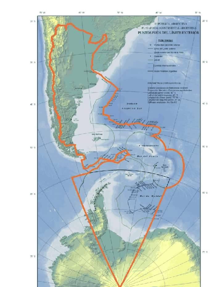 Mapa Bicontinental de Argentina