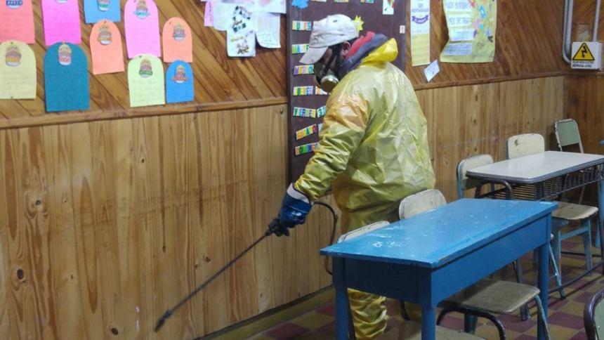 desinfección aulas coronavirus