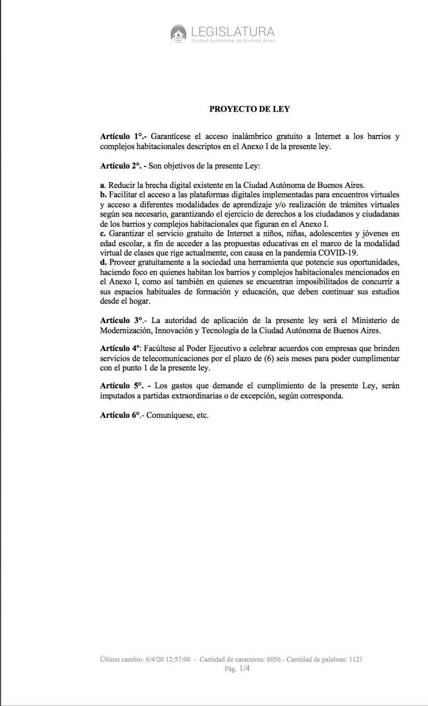 proyecto de ley netbook