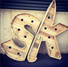 Letras madera leds